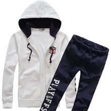 Hoodie sweater men and women spring and autumn men 's high school students two – piece tide set autumn sets do225