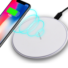 QI Wireless Charger For iPhone X 8 XS Max XR Samsung S9 S8 Plus Mix 3 2s Wireless Charging Pad Docking Dock Station