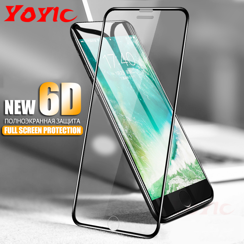 YOYIC 6D Aluminum Alloy Tempered Glass For iPhone 6 6S 7 Plus Full Screen Protector Protective Film For iPhone X 8 5 SE 5s Glass