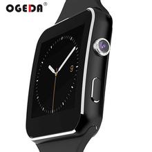 OGEDA Women Smart Watch X6 Sport Passometer Smartwatch with Camera Support SIM Card for Android Phone Sports Hour