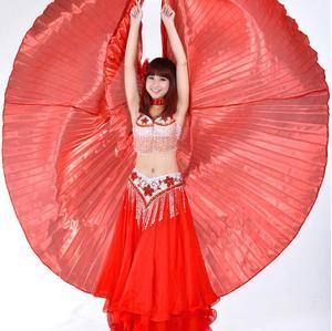 Image 3 - Mısır oryantal dans Isis kanatları için sopa ile yetişkin hindistan dansçı Bellydance kostüm aksesuarı altın mavi gümüş kırmızı ücretsiz kargo