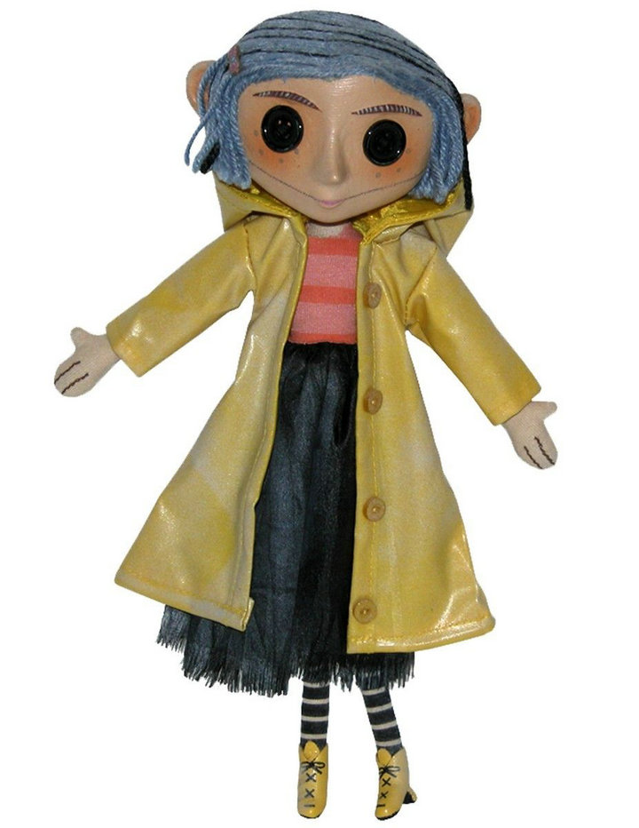 NECA Children's Toys Coraline & The Secret Door Dolls Action Figure 10 Inch The Pity Girl Buttons Eyes