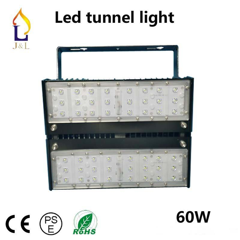 3pcs/lot 60W 1modules /100W 2modules led Flood light gas station light SMD3030 led tunnel light high bright LED high bay light ip67 die cast aluminum alloy module ac100v 110v 220v 200w led high mast tunnel stadium flood light fixture