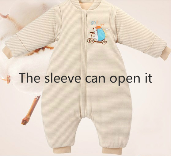Organic cotton baby sleeping bag colored spring and autumn baby sleeping bag child cotton 100% anti tipi autumn and winter
