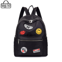 High Quality Nylon Waterproof Women Backpack Fashion The Coat Of Arms School Backpacks For Girls Travel Travel Backpacks C2221/l