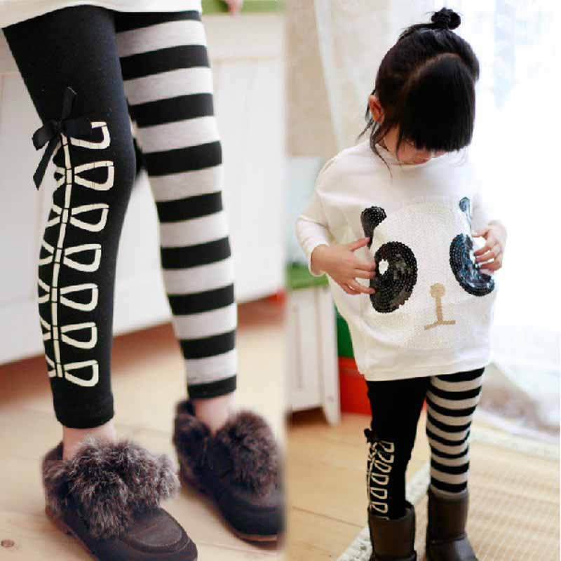 Aliexpress.com : Buy 2 7 Years Baby Girls Leggings black white ...