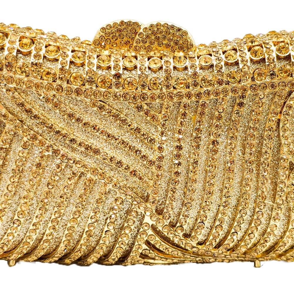 Boutique De FGG Elegant Hollow Out ผู้หญิงคลัทช์คริสตัลกระเป๋างานแต่งงานค็อกเทลเพชร Minaudiere กระเป๋าถือ-ใน กระเป๋าหูหิ้วด้านบน จาก สัมภาระและกระเป๋า บน   2