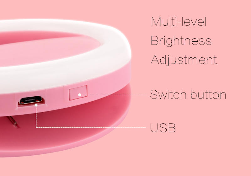 TOKOHANSUN Usb Charging Selfie Ring Led Phone Light Lamp Mobile Phone Lens LED Sefie Lamp Ring Flash Lenses for Iphone Samsung-in Mobile Phone Lenses from Cellphones & Telecommunications on Aliexpress.com | Alibaba Group 7