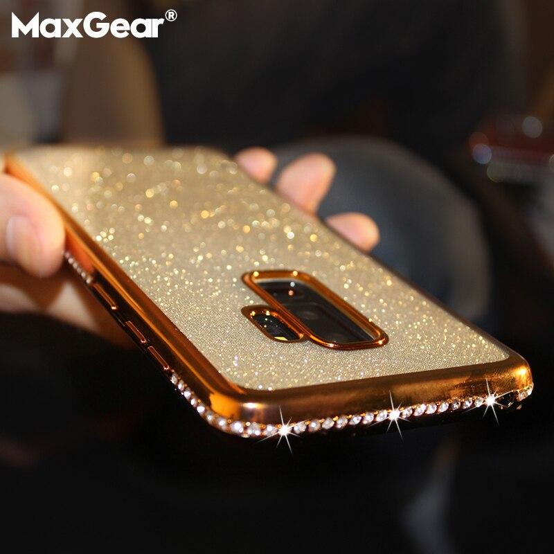 Алмазный чехол для samsung Galaxy S7 край S8 S9 S10 плюс S10E Note 8 9 Крышка для samsung A6 A7 A8 плюс J7 2018 блеск Чехол-бампер