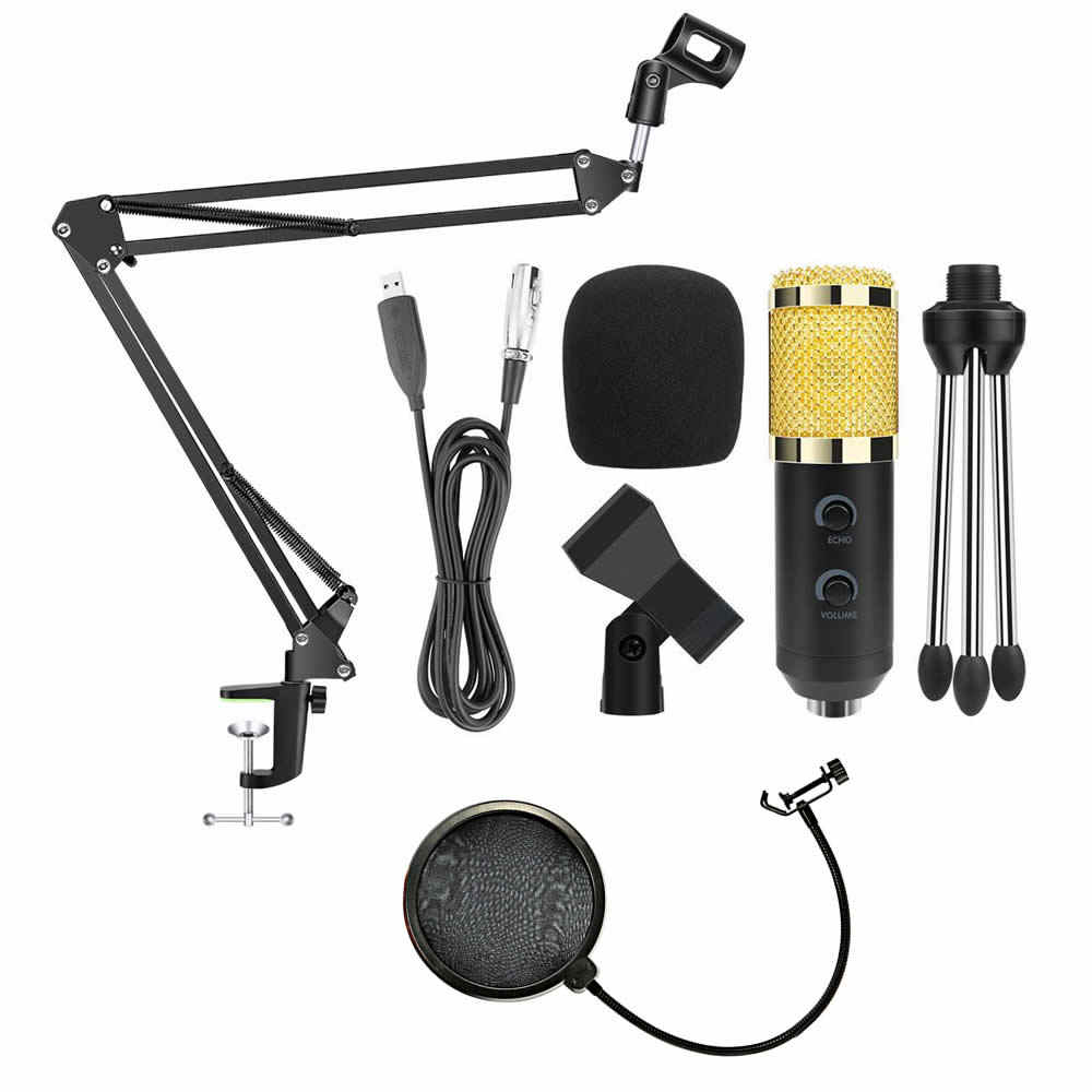 Brand Ituf BM-900 Professional Microphone USB Power Supply & Adjustable Recording Mic Suspension Arm Stand for Karaoke KTV