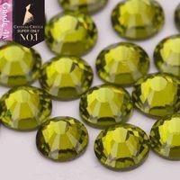 Crystal Castle 4A glass flatback rhinestone Olivine non hot fix crystal  none glue no hotfix strass e6e1d7fea3fa