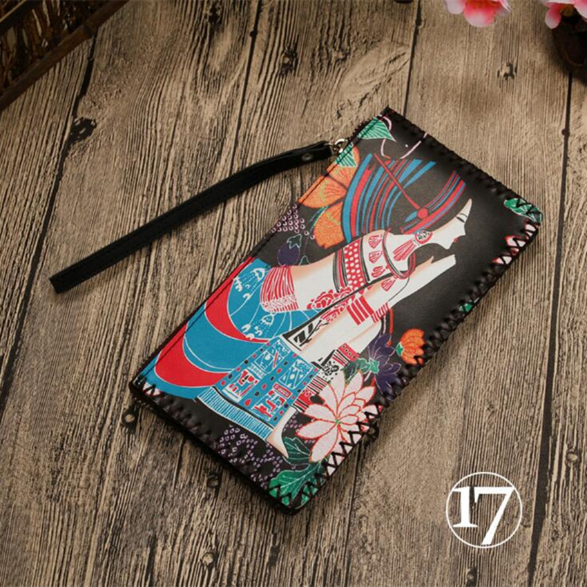 M256 2017 Fashion Wallet National Style Hand Carry Wallet, Zipper Wallet, Big Space Can Put Cell Phone, Pure Handmade Wallet m style шкатулка leaves big