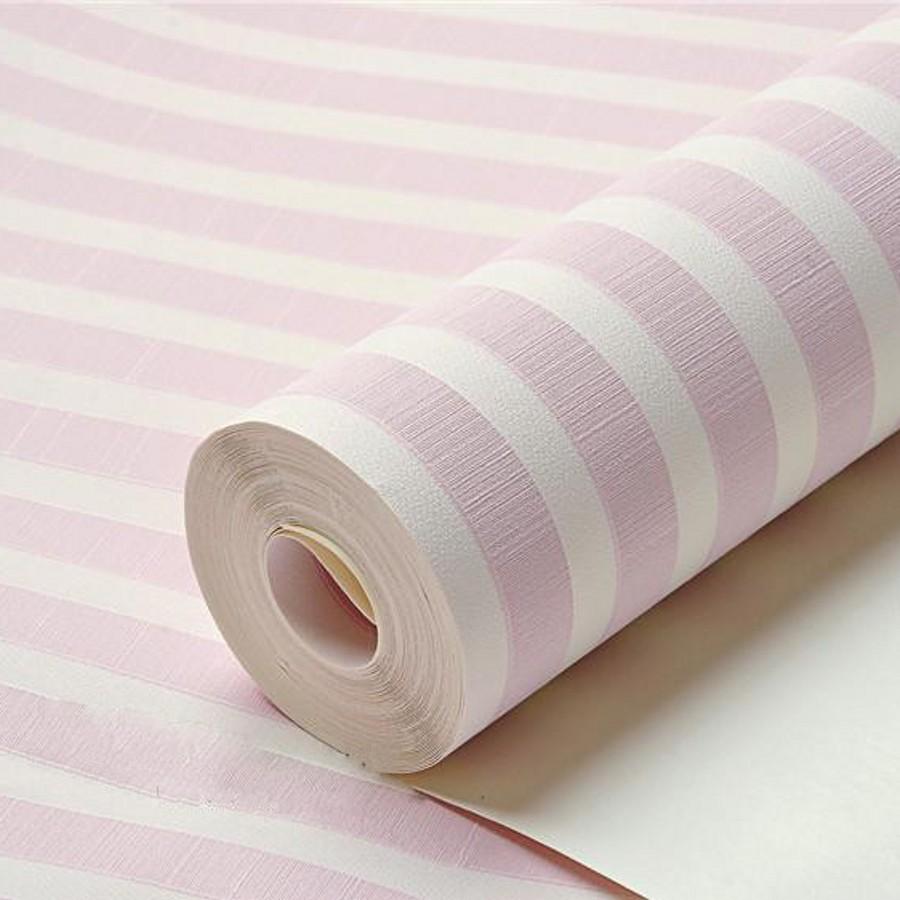 Online kopen wholesale roze streep behang uit china roze streep ...
