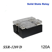2PCS 120A SSR,input DC 0 10V single phase ssr solid state relay voltage regulator Plastic Cover Case for Temperature Controller