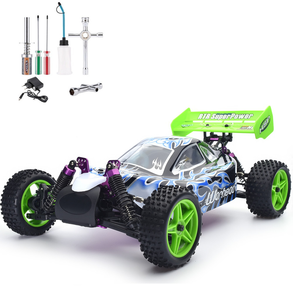 HSP Rc Car 1/10 Scale Nitro Power 4wd Off Road Buggy 94106 High Speed Hobby Remote Control Car 02023 clutch bell double gears 19t 24t for rc hsp 1 10th 4wd on road off road car truck silver