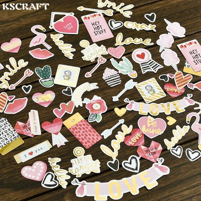 70 pcs שלי אהבה מתוקה רדיד זהב נייר למות לחתוך מדבקות DIY רעיונות/אלבום תמונות קישוט כרטיס ביצוע מלאכות