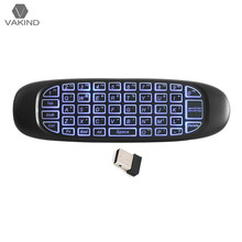 C120 2 4G 6 Axis Sensor Wireless Air Fly Mouse Keyboard 3 Color Backlight Gaming Remote