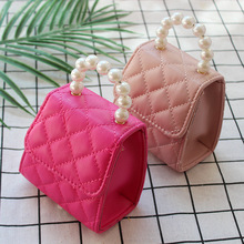 Cute Kids Mini Handbag Tote 2019 Lovely Children Princess Crossbody Bags Pearl P