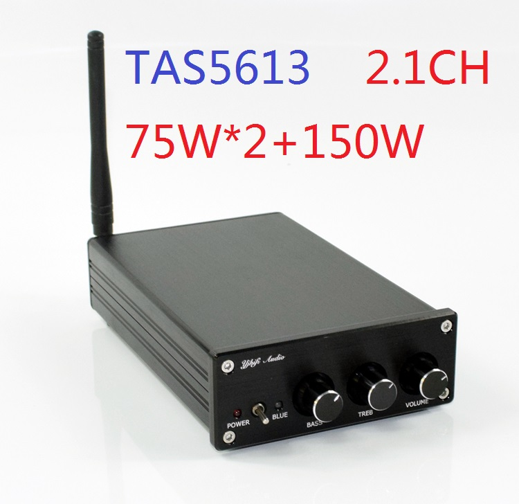 2019 New TAS5613 HiFi <font><b>2.1</b></font> Channel DAC Decoding <font><b>Bluetooth</b></font> 4.2/5.0 Optional Class-D Full Digital Audio Power Amplifier 75W*2+150W image
