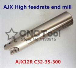 AJX12R C32-35-300 frez czołowy AJX High feedrate End mill  frezowanie szybkie frezowanie indeksowane frez