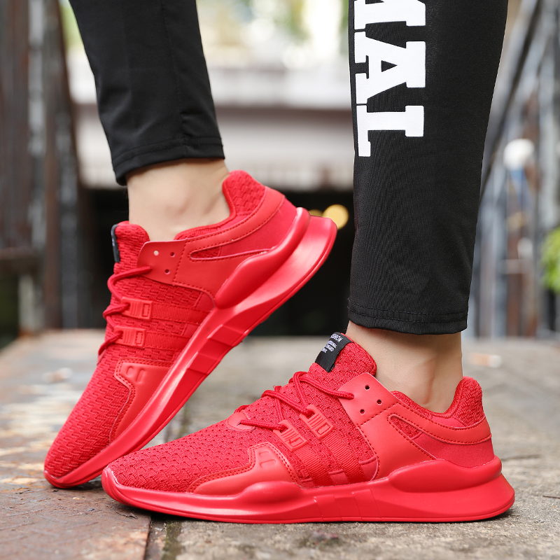 2018 Outdoor Running Shoes Beginner Mesh Footwear Male Shoes Breathable Training Shoes Sports Sneakers For Men Plus Size 39-46