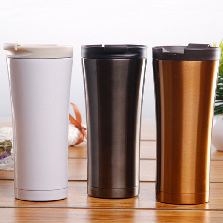 Hot Sale Double Wall Stainless Steel Coffee Thermos Cups Mugs Thermal Bottle 500 ml Thermocup Fashion Tumbler Vacuum Flask Mugs