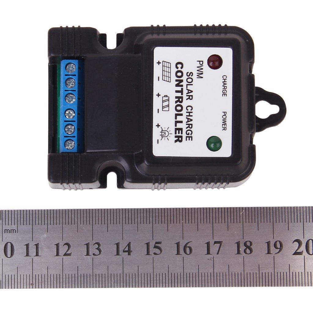 DSHA New Hot SJ3A Solar Panel Charger Controller Regulator PWM 12V 3A