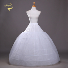 6 Hoops For Ball Gown Petticoats White Petticoat Crinoline Underskirt Big Ruffle Wedding Accessories Tulle Underskirts H78906