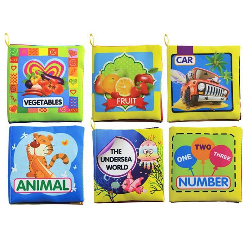 6 Styles Mjuka Rattles Cloth Book Intelligence Utveckling Tidig - Leksaker för spädbarn