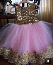 Pink Tulle Little Girls Birthday Party Dress with big Bow Princess Pageant Kids Gown for Ceremony