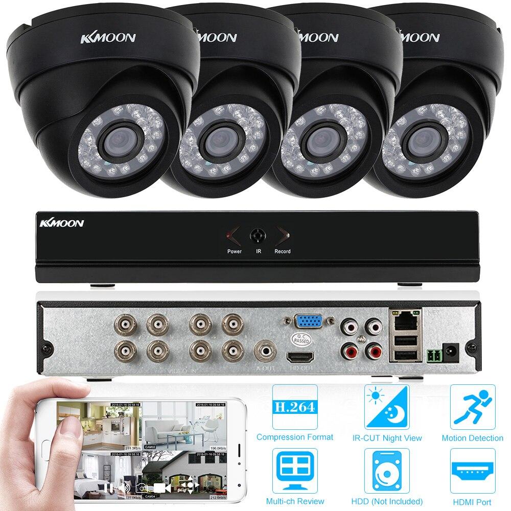 KKmoon 8CH 1080P P2P Onvif AHD DVR 4pcs 720P Outdoor Bullet CCTV Camera CCTV Kit
