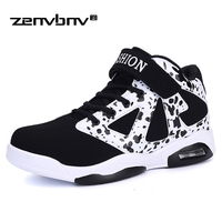 ZENVBNV Men Casual Shoes Spring Autumn Breathable Unisex Sneakers Shoes Fashion Superstar Lace up High Top Patchwork Flats Shoes
