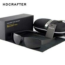 HDCRAFTER Fashion Sunglasses Brand Designer Men's Square Sunglasses Polarized Driving Sun Glasses UV400 Glasses for Fishing