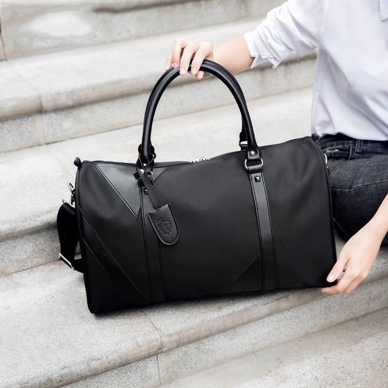 Men Travel bags Fashion Nylon Big Handbag Folding Trip Bag Large Capacity Luggage Duffle Bags Business