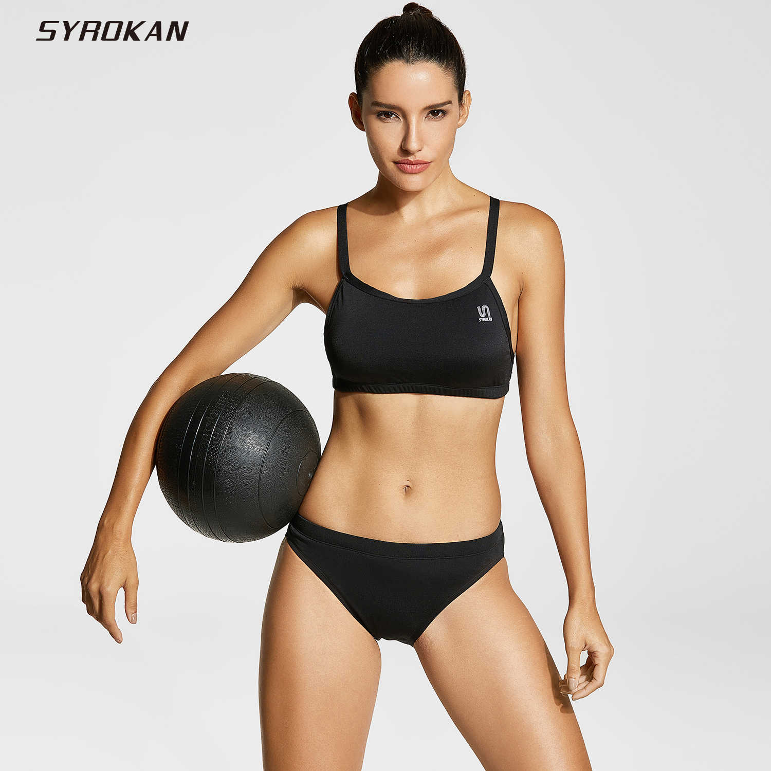 018e50de277 Detail Feedback Questions about SYROKAN Women's Athletic Bikini Workout Two  Piece Sport Swimsuit on Aliexpress.com | alibaba group