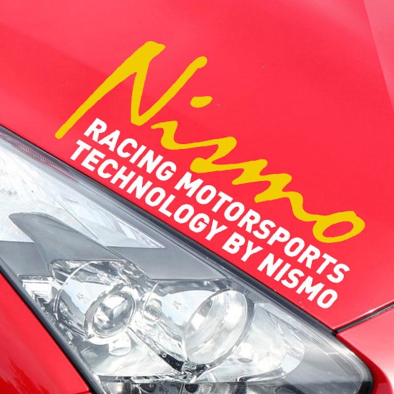 NISMO On Car Lamp Eyebrow Car Sticker For Nissan qashqai 2015 juke x-trail tiida note almera accessories