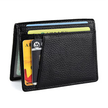 Fashion Genuine Leather Passport Wallet RFID Business Card Holder Man Bank ID Credit Card Holders Cover Case Unisex coffee(China)