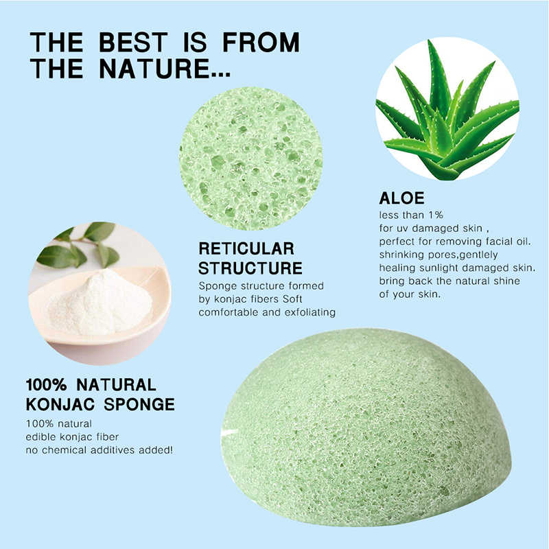 100% natural konnyaku konjac facial puff rosto limpar lavagem esponja esfoliante limpeza esponja sopro facial limpador