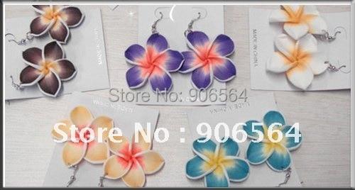 Hawaiian Plumeria Flower Frangipani Flower Earrings Fashion Earrings Nice Jewelry Hair Accessories Free Shipping Multiple Colors