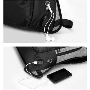 Image 4 - Stilvolle USB Lade Anti diebstahl rucksack Frauen Anti diebstahl rucksack für jugendliche Licht männlichen Laptop rucksack 15,6 zoll Männer