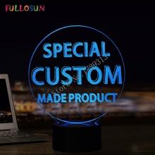 Заказчик уникальный настроить 3D лампы красочные огни для подарка& Droshipping