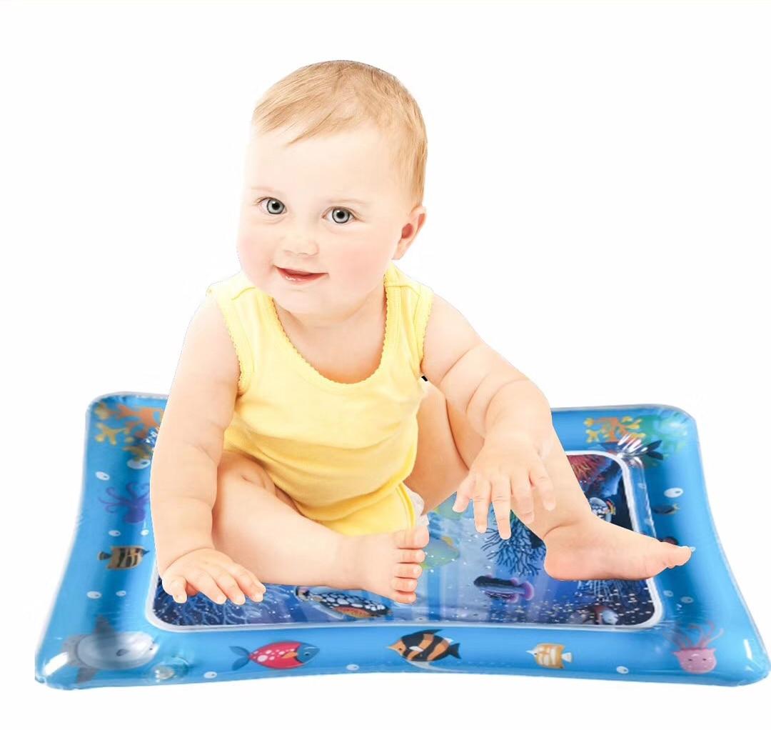 Baby Crawling Water Mat Inflatable Play Pat Playmat