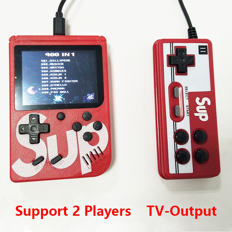 Sup Portable Video Handheld Game Console Retro Classic Mini Game Machine  Built-in 300 Classic Game red without gamepad 3