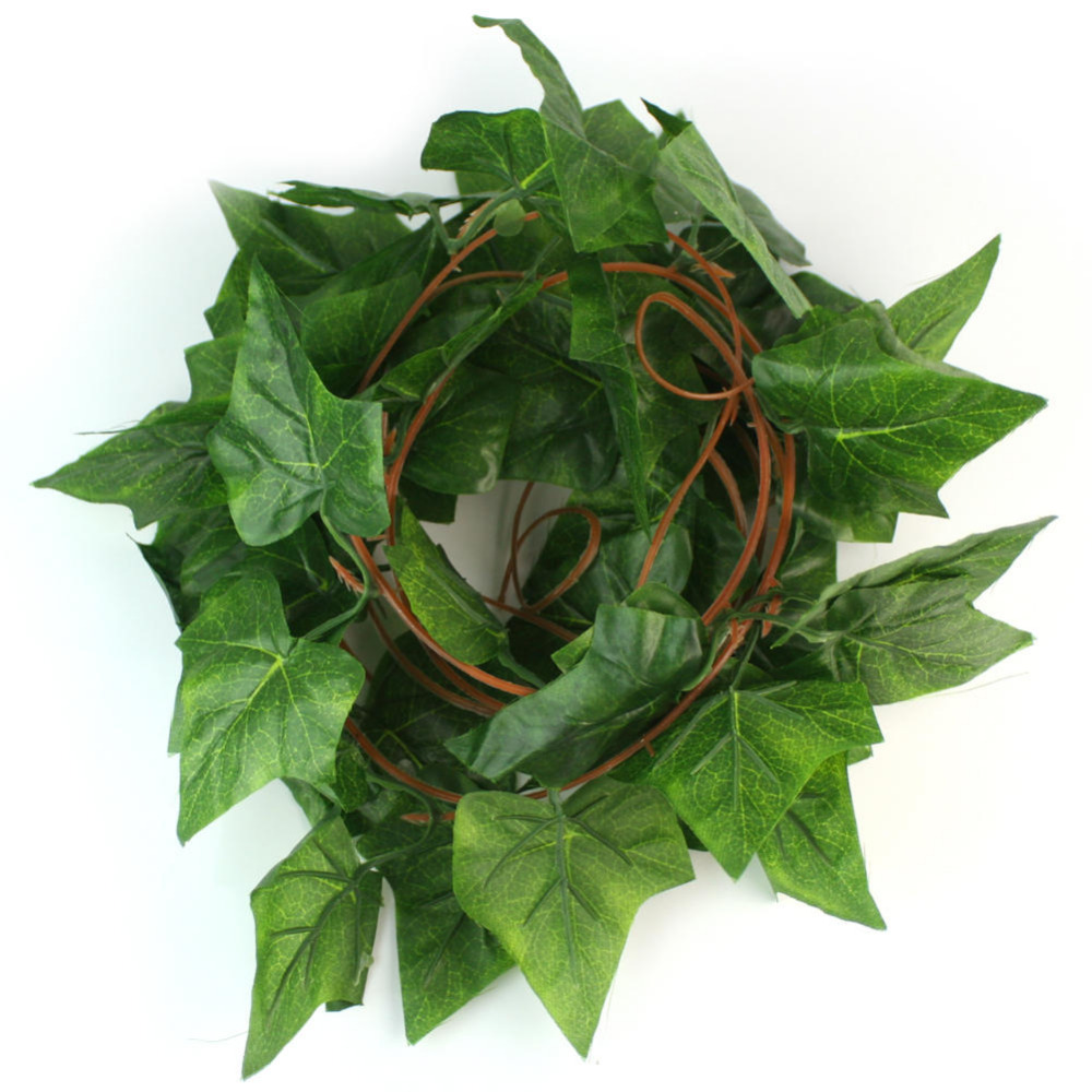 Green 9ft long plastic artificial ivy leaves foliage for Artificial leaves for decoration