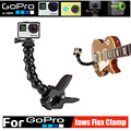 Go pro Accessories Jaws Flex Clamp Mount + Adjustable Goose Neck Bracket For Gopro Hero 4 3+ SJ5000 SJ6000 SJ7000 for Xiaomi Yi