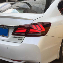 Car Styling LED Tail Lamp for Honda Accord 9 Tail Lights 2014-2016 for Accord Rear Light DRL+Turn Signal+Brake+Reverse LED light car styling tail lights for toyota highlander 2012 2014 taillights led tail light rear lamp drl brake signal auto accessories