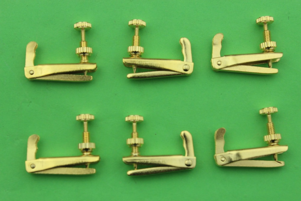 50pcs New high quality golden Violin String Adjuster fine tuners 3 4 4 4 size