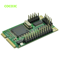 High quality Mini PCIe 2 Serial + 1 Parallel I/O Controller card mini PCI express to printer Port + RS232 com port adapter