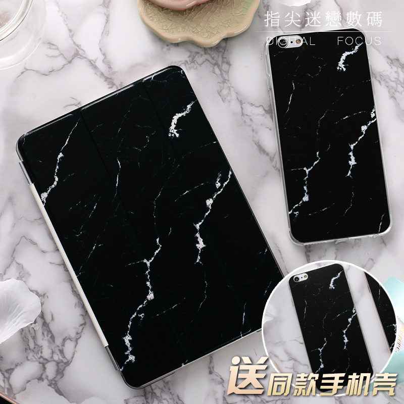 Black Marble Flip Cover For iPad Pro 9.7 10.5 10.5 Air Air2 Mini 1 2 3 4 Tablet Case Protective Shell For New iPad 9.7 2017 for ipad mini4 cover high quality soft tpu rubber back case for ipad mini 4 silicone back cover semi transparent case shell skin