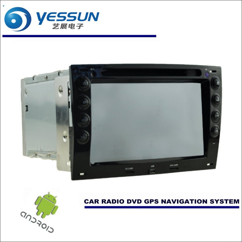 YESSUN Car Android Navigation System Radio Stereo CD DVD Player GPS Navi HD Screen Multimedia For Renault Megane 2 II 2002~2009 car window regulator repair kit for renault megane ii 2 front right 2002 2009 new